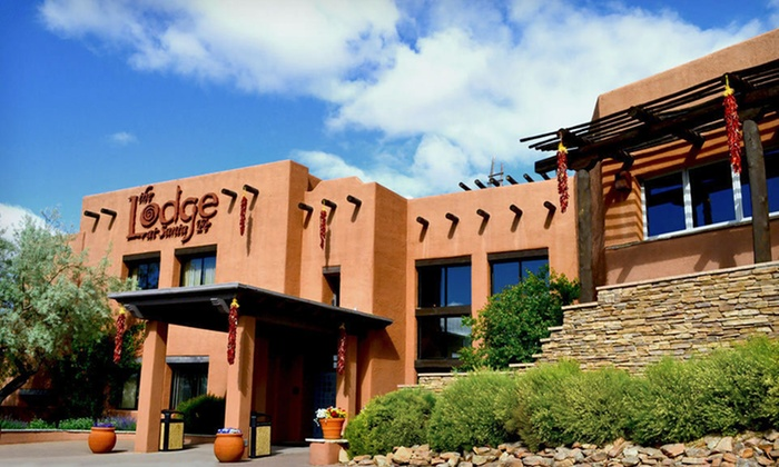 The Lodge at Santa Fe - Santa Fe, NM: Two-Night Stay, Dining Credit, and Bottle of Wine at The Lodge at Santa Fe in Santa Fe, NM