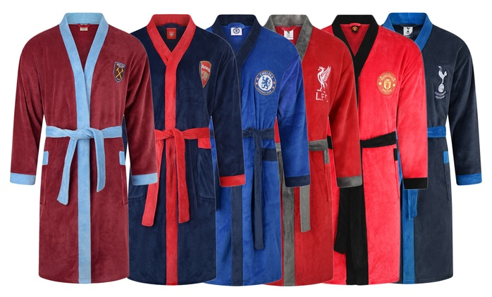 Men's Offically Licensed Football Dressing Gown in Choice of Design for £14.99