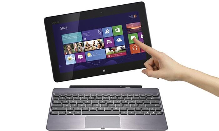 "ASUS VivoTab 10.1"" 32GB Windows Tablet with Keyboard Dock (TF600T-B1-GR) (Manufacturer Refurbished): ASUS VivoTab 10.1"" 32GB Windows Tablet with Keyboard Dock (TF600T-B1-GR) (Manufacturer Refurbished). Free Returns."