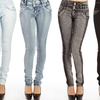 Sky Skinny High-Waisted Jeans
