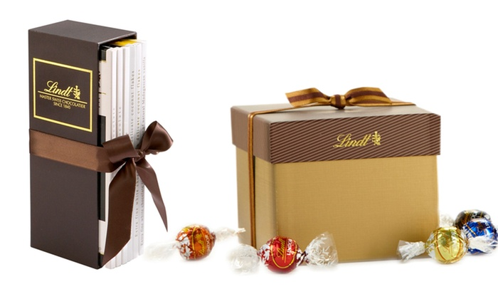 Lindt or lindor chocolate sets groupon goods
