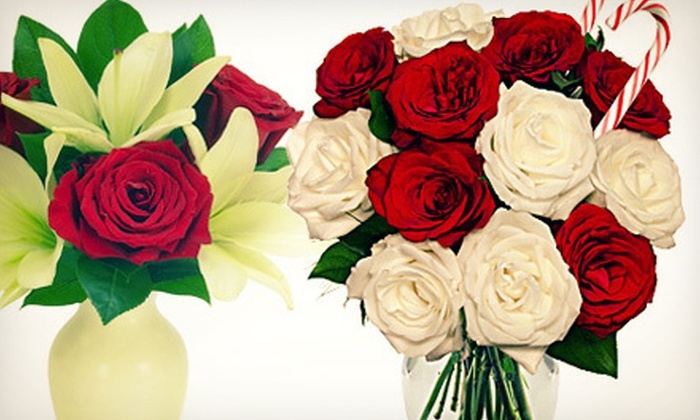 FromYouFlowers.com: Candy-Cane Rose Bouquet, or $15 for $30 Worth of Flowers and Gifts from FromYouFlowers.com