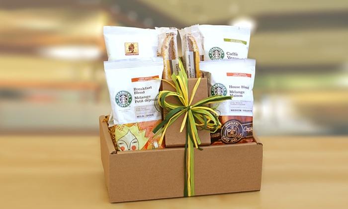 starbucks coffee gift set groupon goods
