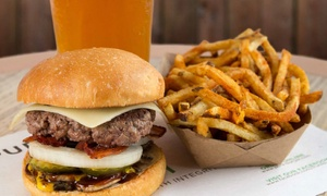 Pure Burger: Grass-Fed Bison or Beef Burgers or Chicken Sandwiches at Pure Burger (Up to 34% Off). Four Options Available.