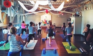 The Yoga Room: $45 for 30 Days of Unlimited Yoga Classes at The Yoga Room Tulsa ($130 Value)
