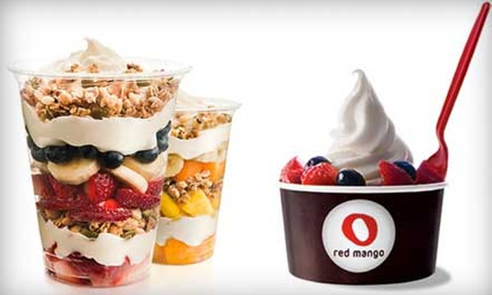 Red Mango Long Beach - Long Beach: $12 for 5 Groupons, Each Good for $5 Worth of Frozen Yogurt, Smoothies & Parfaits at Red Mango ($25 Total Value)