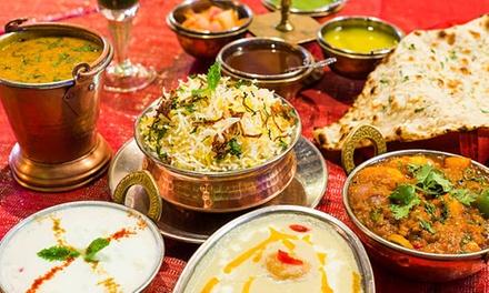Menu indiano a scelta con dolce e vino