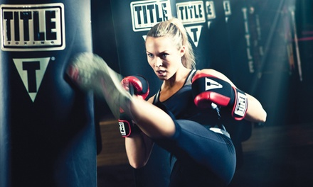 $39 for Two Weeks of Boxing & Kickboxing Classes with Gloves & Wraps at TITLE Boxing Club ($87.99 Value)