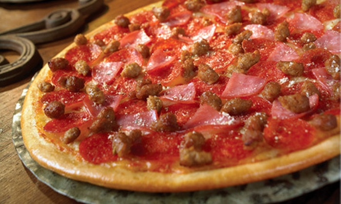 Gatti's Pizza - Multiple Locations: $13 for a Large Two-Topping Pizza with Soda, Salads, and Breadsticks at Gatti's Pizza ($26.03 Value)