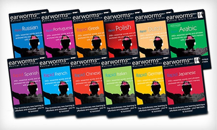 Earworms Musical Brain Trainer: Musical Foreign-Language Instruction MP3s for Two or Four Languages from Earworms Learning (Up to 63% Off)