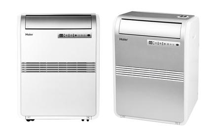 haier 8 000 btu portable air conditioner refurbished groupon. Black Bedroom Furniture Sets. Home Design Ideas