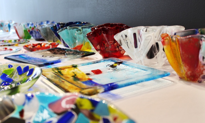 MoltenWorks LLC - Valley Industrial: Sip N' Fuse BYOB Fused Glass Workshop for One, Two, or Four at MoltenWorks LLC (Up to 47% Off)