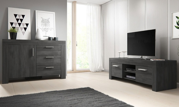 meuble tv ou buffet groupon shopping. Black Bedroom Furniture Sets. Home Design Ideas