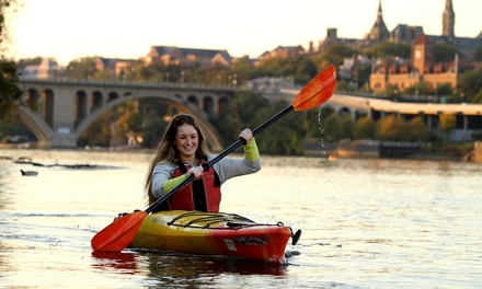 Four Weekday Kayak or Paddleboard Rentals, or 90-Minute Twilight Tour at Key Bridge Boathouse (Up to 51% Off)