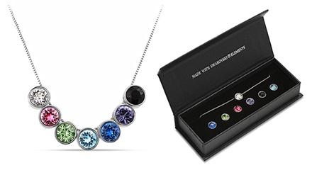 Una o 2 collane 7Days con 7 pendenti intercambiabili e cristalli di Swarovski® da 14,90 € (fino a 62% di sconto)