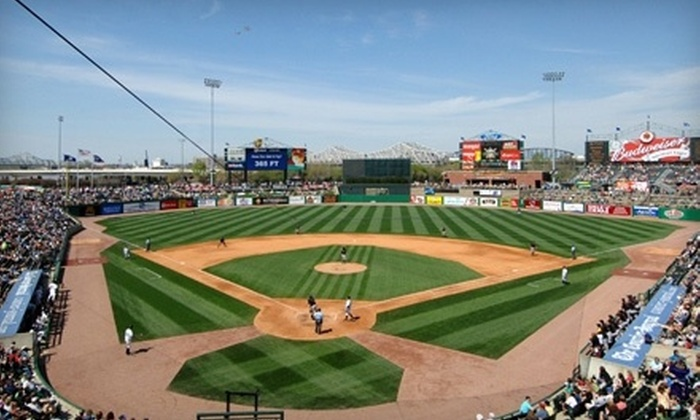Louisville Bats - Central Business District: $19 for a Louisville Bats Game for Four at Louisville Slugger Field ($39 Value)