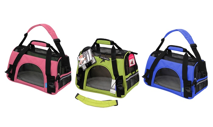 9334bebebae1 Soft-Sided Airline-Approved Travel Pet Carrier