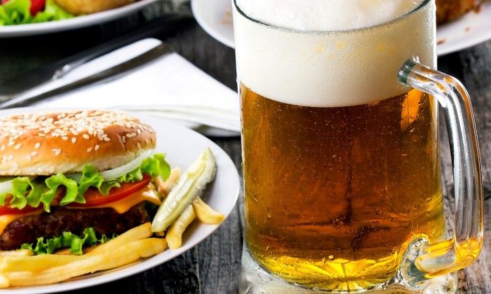 Lucky's Bar & Grille - East Providence: Pub Food and Drinks at Lucky's Bar & Grille (50% Off). Three Options Available.