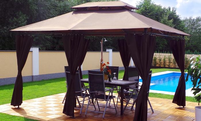 pavillon minzo 3 x 4 m groupon. Black Bedroom Furniture Sets. Home Design Ideas