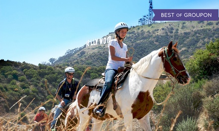 $49 for a One-Hour Weekday Horseback Tour for Two from Sunset Ranch Hollywood ($80 Value)