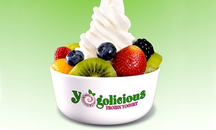 $12 for Four Vouchers, Each Good for $6 Worth of Frozen Yogurt at Yogolicious and Toppings ($24 Value)