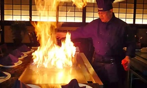 Kabuki Japanese Steakhouse & Sushi: Hibachi Dinner or Sushi at Kabuki Japanese Steakhouse & Sushi (Up to 45% Off). Three Options Available.