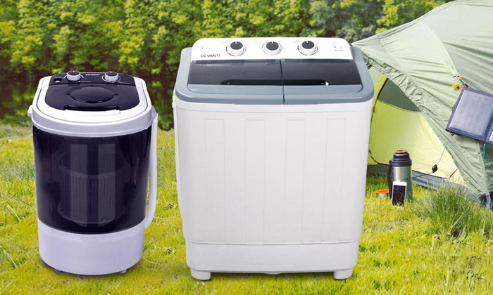 Groupon Goods: Mini Portable Washing Machine Top Load Two In One Spin Dry  ...