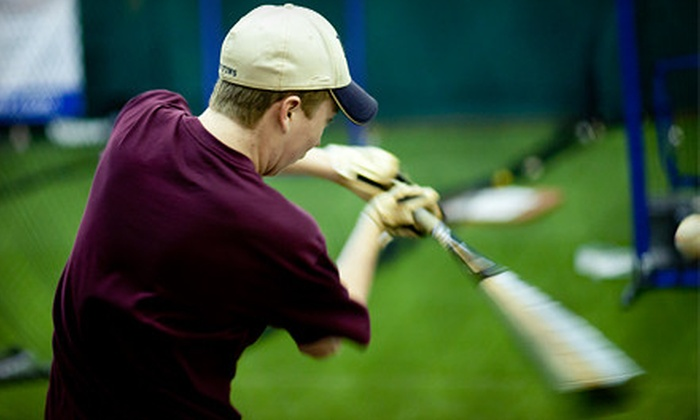 Raider's Edge - Raiders Edge: Two or Four Groupons, Each Good for One Hour of Batting-Cage Time at Raider's Edge (Up to 54% Off)