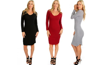 Lyss Loo Women's Bodycon Sweater Dress
