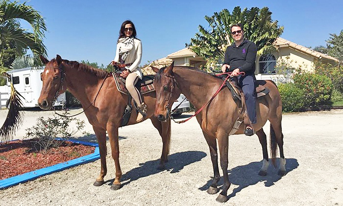 High Point Stables - Palm Beach Farms: Hour-Long Fall Trail Ride on Horseback for One, Two, or Four at High Point Stables (Up to 50% Off)