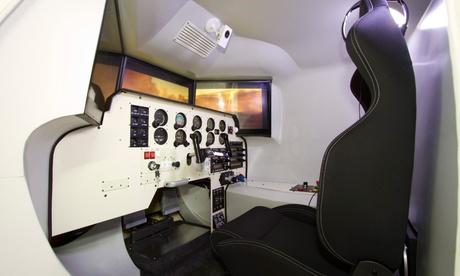 Experiencia de simulación de vuelo de 60, 90 o 120 minutos para uno desde 34,95 € en Aeroteca Oferta en Groupon