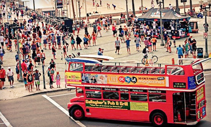 Big Red Bus - Long Beach: Four-Hour Pub Crawls for One, Two, or Four from Big Red Bus (Up to 63% Off)