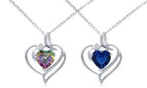 2.00 CTW Genuine Gemstone Heart Pendant at 2.00 CTW Genuine Gemstone Heart Pendant, plus 9.0% Cash Back from Ebates.