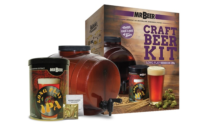 Mr beer long play ipa craft beer kit groupon for Craft beer brewing kit