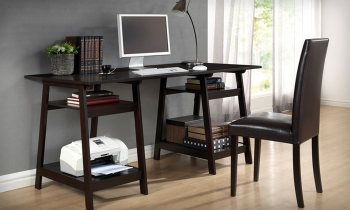 Modern Wooden Office Desks: Modern Wooden Office Desks (Up to 62% Off). Five Options Available. Free Shipping and Free Returns.