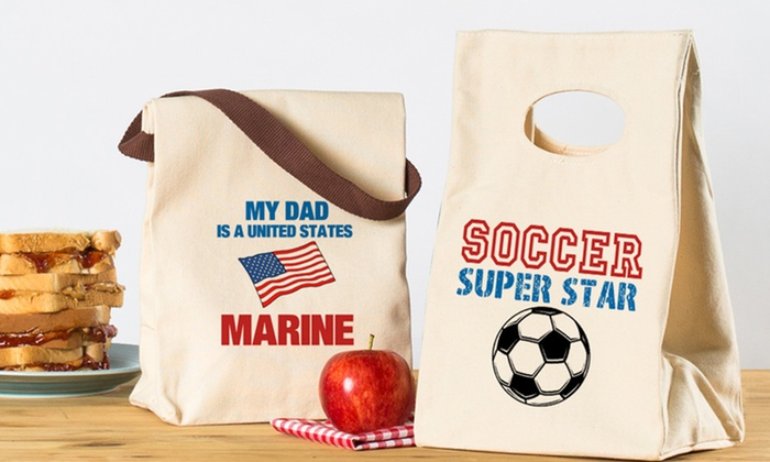 Custom Canvas Lunch Bag from CafePress: $12.99 for a Custom Canvas Lunch Bag from CafePress $17