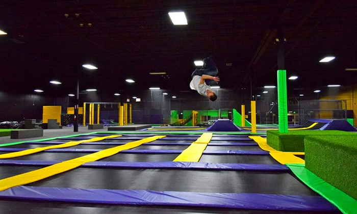 Get Air Freehold  - Eatontown: Two or Four One-Hour Jump Passes or a Party Package at Get Air Freehold (Up to 48% Off)
