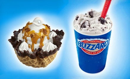 5 Blizzards, Smoothies, or Royal Treats; 12 Dilly Bars or DQ Sandwiches; or $15 for 3 $10 Groupons at DQ Grill & Chill