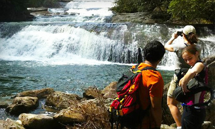 Charlotte Outdoor Adventures - Gastonia: $25 for a Waterfalls & Swimming Holes Guided Hike from Carolina Outdoor Adventures ($50 Value)