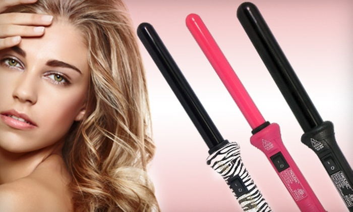 24 for a proliss clipless curling wand groupon for Iso curling wand