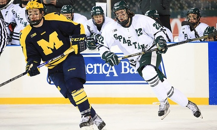 $18 to See a College Hockey Game Between Michigan State and Michigan at Joe Louis Arena on January 30 ($40 Value)