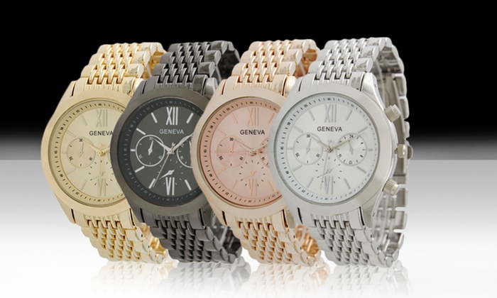 Geneva Exquisite Collection for Men or Women: Geneva Exquisite Collection Watches for Men or Women. Multiple Styles Available. Free Returns.