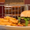 Menu con hamburger e birra artiginale