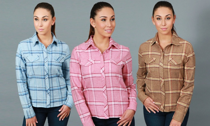 DCC Women's Long Sleeve Flannel Shirts: DCC Women's Long Sleeve Flannel Shirts. Multiple Styles Available. Free Returns.