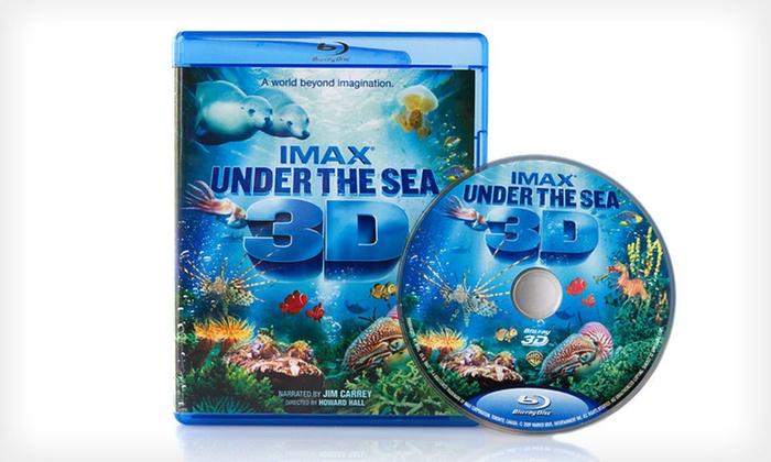 "IMAX ""Under the Sea 3D"" Blu-ray Movie: $9 for an IMAX ""Under the Sea 3D"" Blu-ray Movie ($44.95 List Price). Free Shipping."
