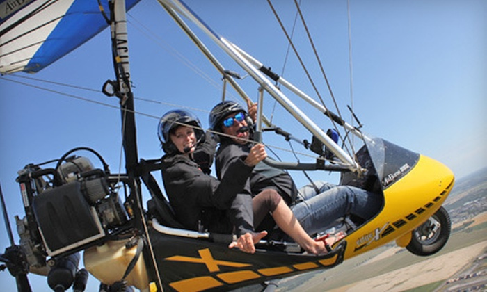Adventure At Altitude - Steinbach: Ultralight Hang-Gliding SkyRide for One or Two from Adventure At Altitude in Steinbach (Up to 55% Off)