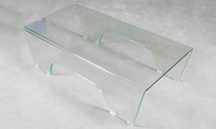 Tavolino Ghoy in vetro curvato a 169,95 € (69% di sconto)