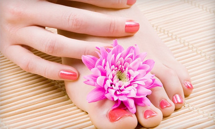 Q Nail Spa - Missouri City: Basic Shellac Manicure with Pedicure and Massage or Deluxe Shellac Manicure at Q Nail Spa (Up to 54% Off)