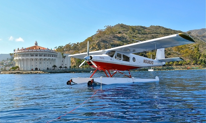PAC Seaplanes - Fullerton: Flight to Catalina Island and Snorkeling, or Sunset Flight with Champagne from PAC Seaplanes (Up to 41% Off)