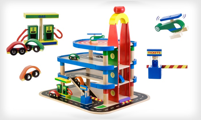 Alex Wooden Parking-Garage Play Set: $45 for an Alex Wooden Parking-Garage Play Set with Cars ($104.95 List Price). Free Shipping.
